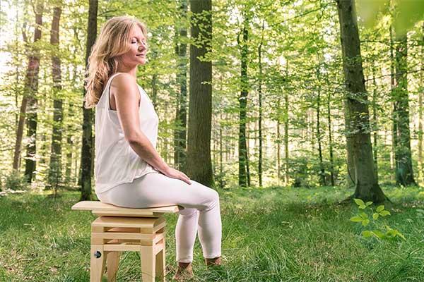 Gesund sitzen beim Meditieren